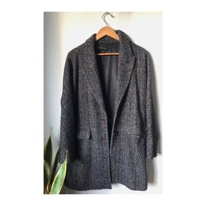 Zara Blazer - Coat - Grey with Contrast Stitching
